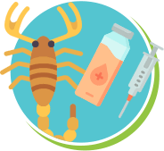 Escorpião veneno antídoto