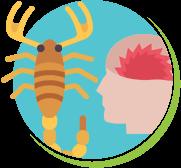 Escorpião tipo do veneno